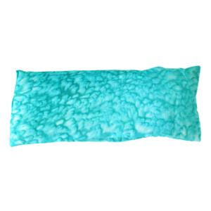 turquoise silk eye pillow