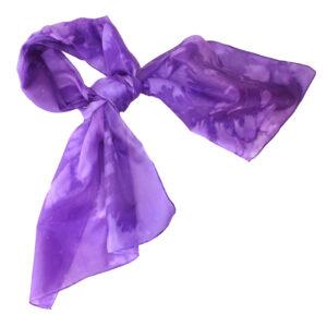 purple silk neck scarf